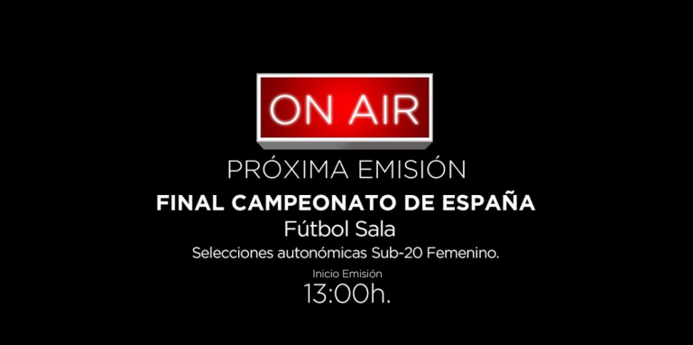 Emisión en directo de la Final de Campeonato de España Sub 20