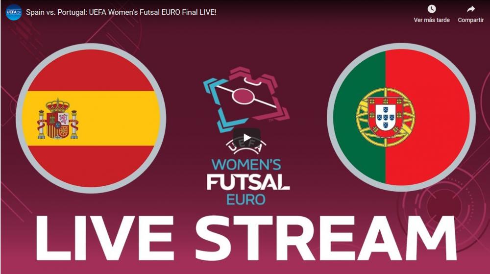 Directo: Final del Europeo de Fútbol Sala Femenino entre España - Portugal