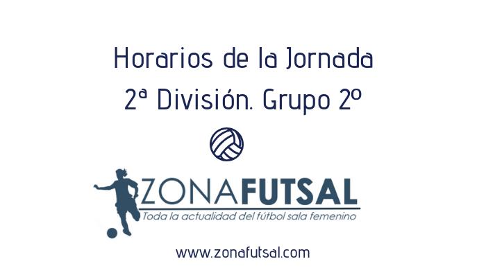Horarios 2ª División de Fútbol Sala Femenino. Grupo 2º. Jornada 23