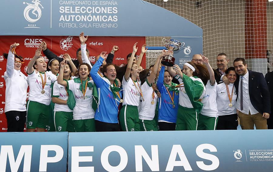 La Selección de Andalucía Sub 17 Campeona de España. Foto: RFEF