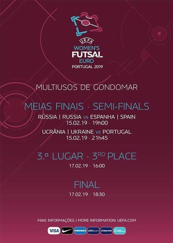 Horarios y Programa Oficial del Europeo de Fútbol Sala Femenino