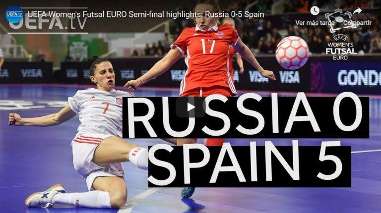 Resumen de la Semifinal entre España y Rusia