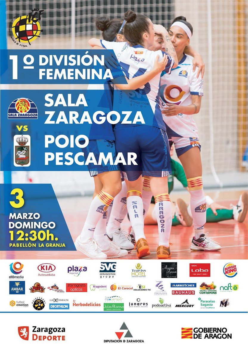 Emisión en Directo: Sala Zaragoza - Poio Pescamar FSF. Jornada 19