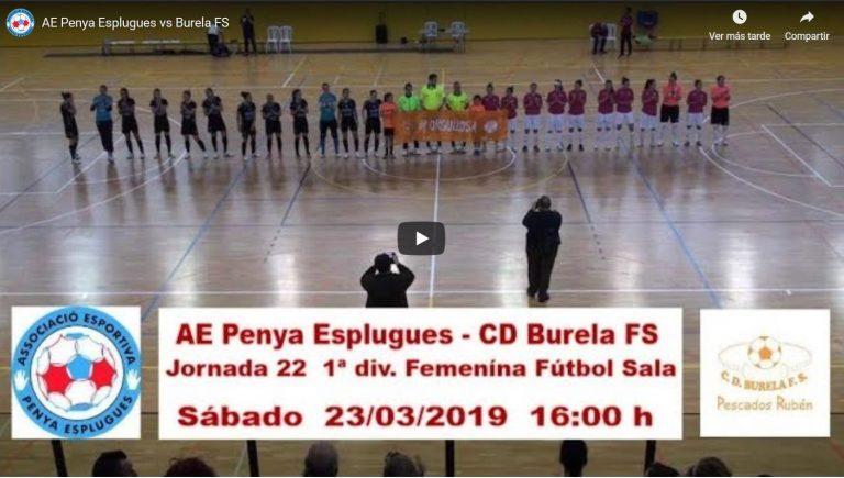 Emisión en Directo: AE Penya Esplugues - Pescados Rubén Burela FS. Jornada 22