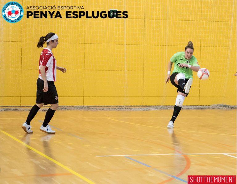 El sólido partido de la Penya Esplugues contra el líder acaba sin premio