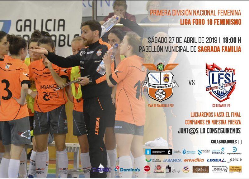El Viaxes Amarelle FSF herculino se juega media salvación en el duelo de este sábado frente al CD Leganés FSF