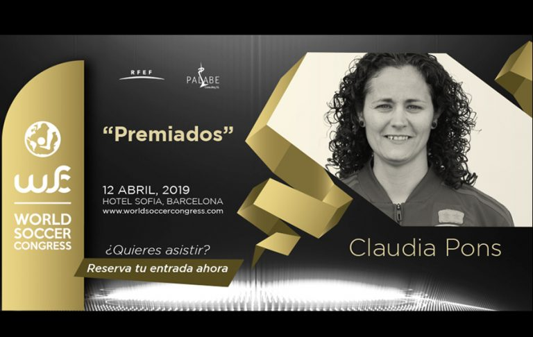Claudia Pons, premiada en el World Soccer Congress