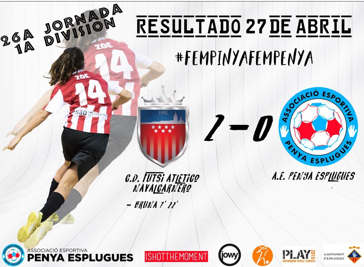 La Penya Esplugues cae (2-0) a la pista del líder, el Futsi Atlético, antes de iniciar el esprint final de la liga