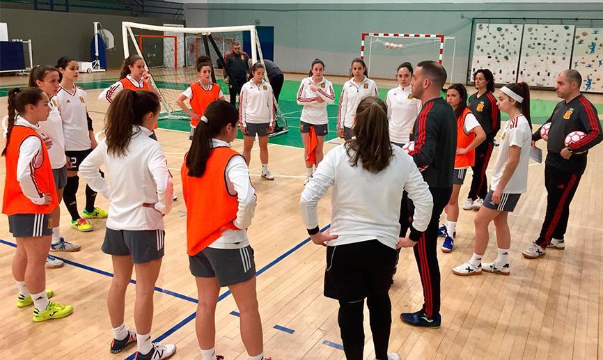 La Selección Española de Fútbol Sala Femenino Sub 19 disputa hoy su primer amistoso frente a Portugal