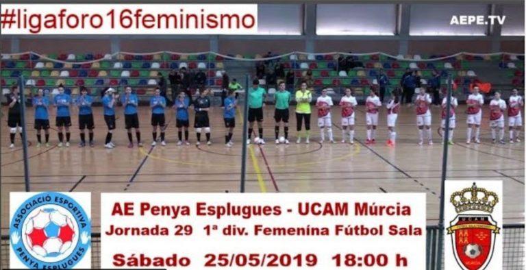 Emisión en Directo: A.E. Penya Esplugues - UCAM ElPozo Murcia. Jornada 29
