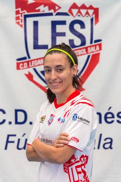 """Esther Hernández """"Puche"""" (Jugadora de CD Leganés FS): """"La permanencia pasa por el trabajo diario, por creer en lo que hacemos y por no bajar los brazos aunque los resultados no acompañen."""""""