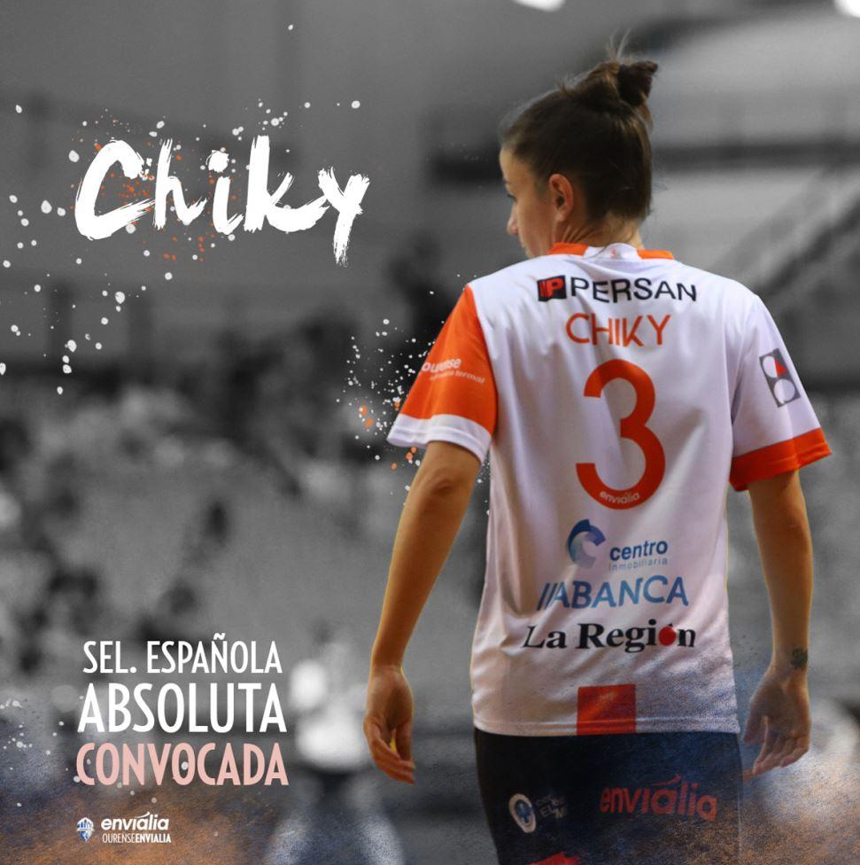 Chiky, jugadora de Ourense Envialia FSF convocada por la Selección Española de Fútbol Sala Femenino