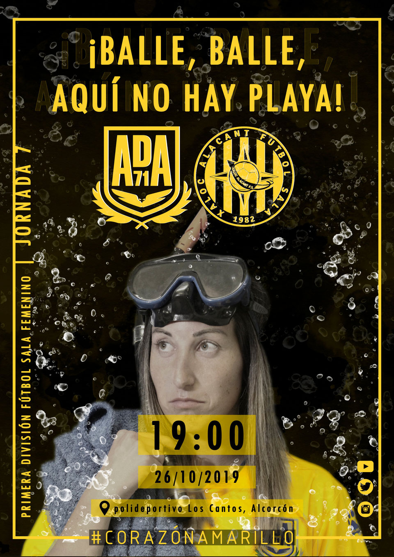Previa: AD Alcorcón FSF - Xaloc Alacant . 1ª División. Jornada 7ª