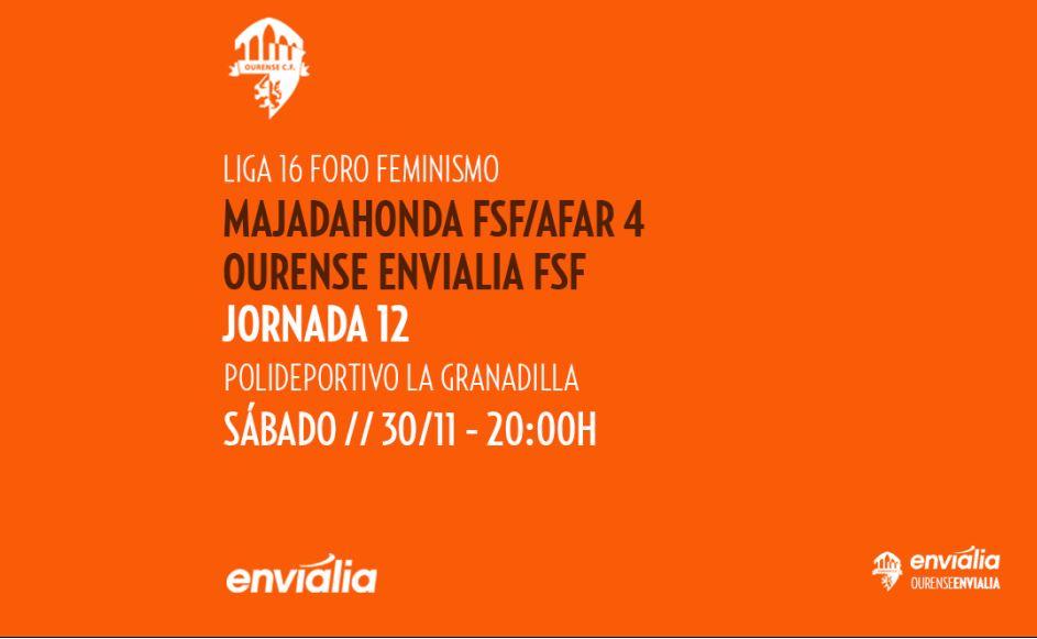 Previa: FS Majadahonda - Ourense Envialia FSF. 1ª División. Jornada 12ª