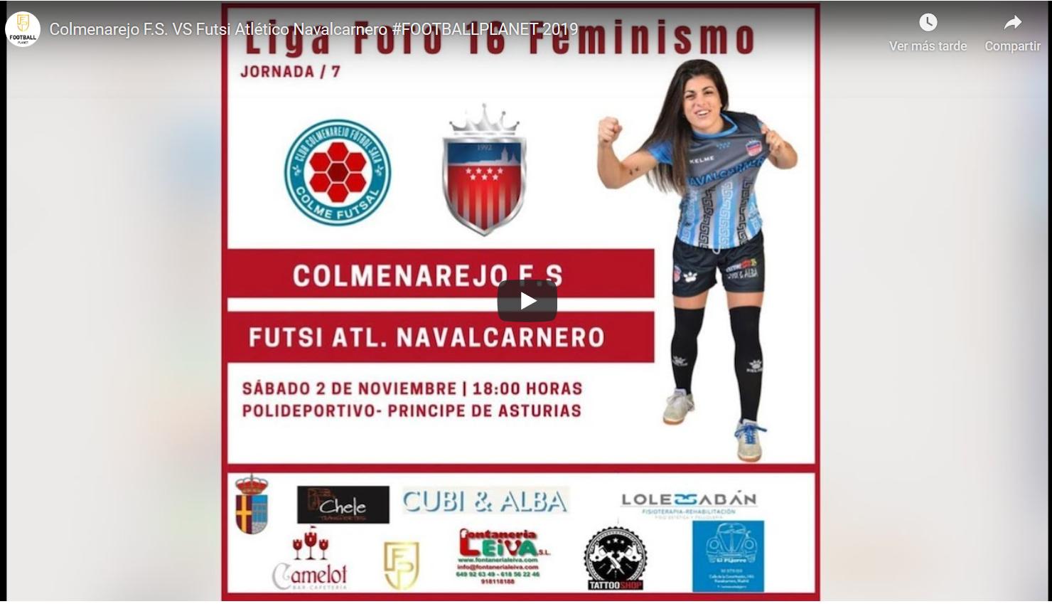 Emisión en Directo del Fútbol Sala Femenino. Jornada 2 y 3 de Noviembre