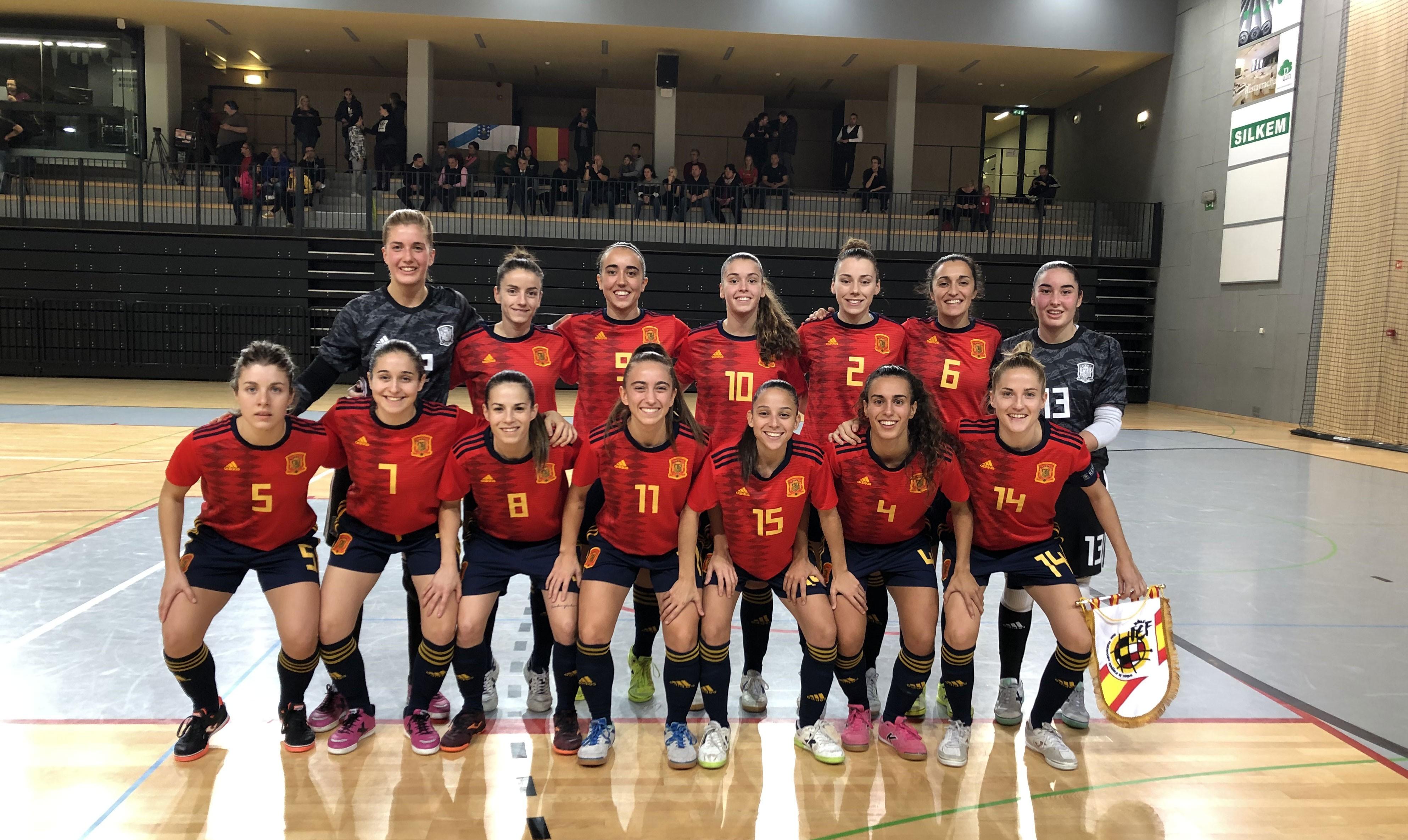 La Selección Española de Fútbol Sala Femenino gana 11-0 a Eslovenia en el primer amistoso