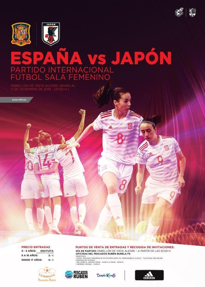Venda anticipada para España-Japón, desde el martes 3
