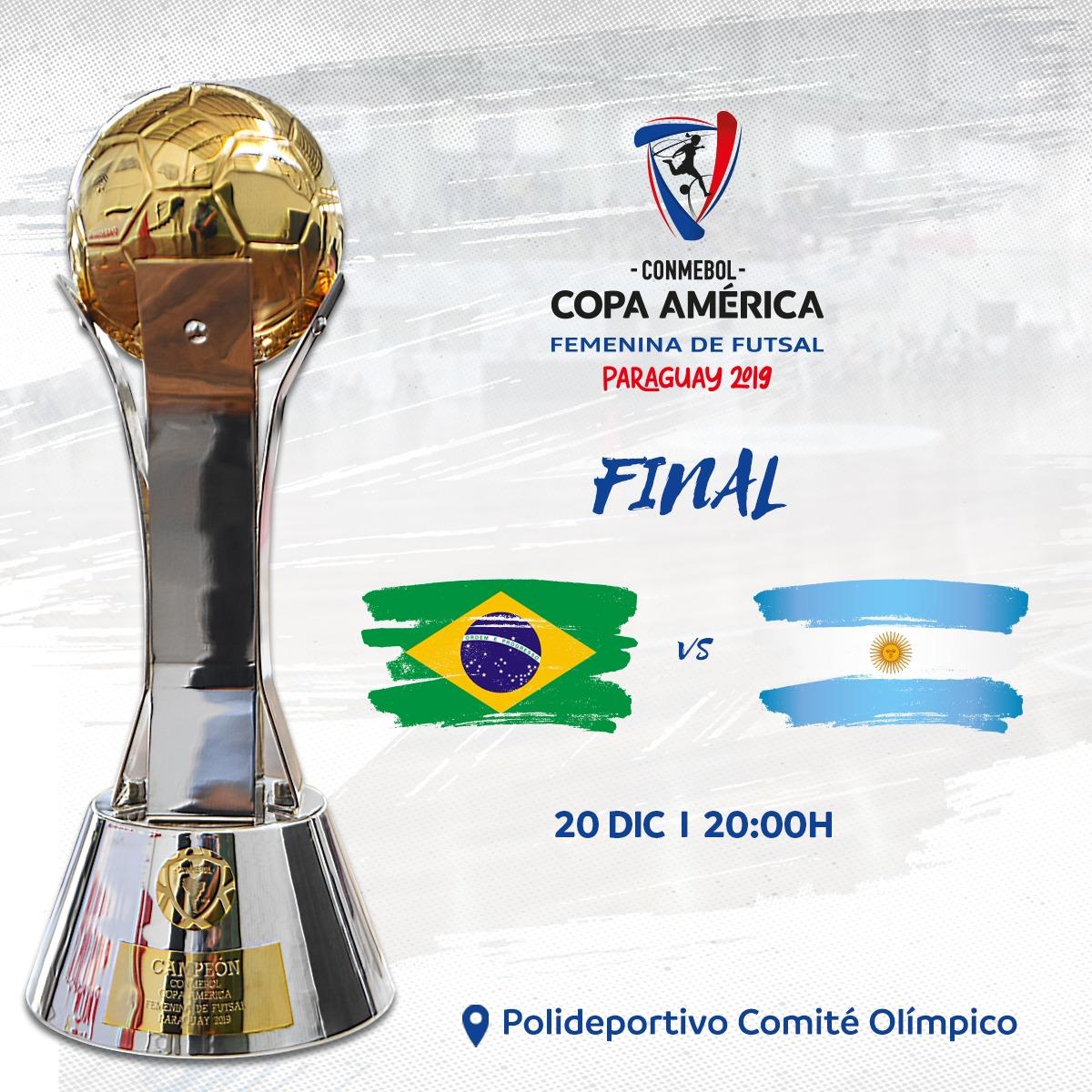 Emisión en Directo del Fútbol Sala Femenino: Final de la Copa América 2019 de Fútbol Sala Femenino
