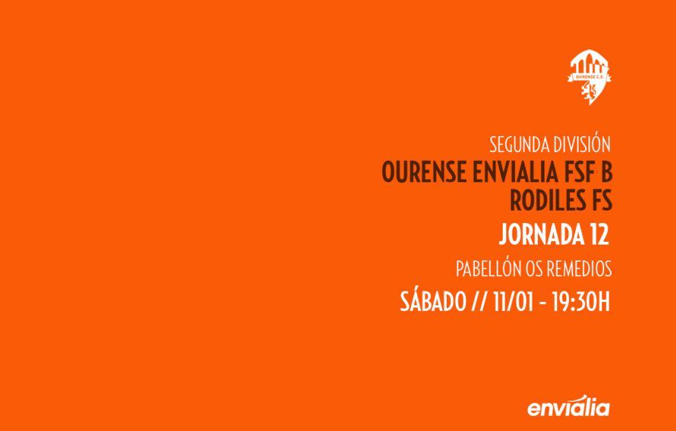 Previa: Ourense Envialia FSF - Rodiles FSF. Jornada 12ª. 2ª División. Grupo 1º. Fútbol Sala Femenino