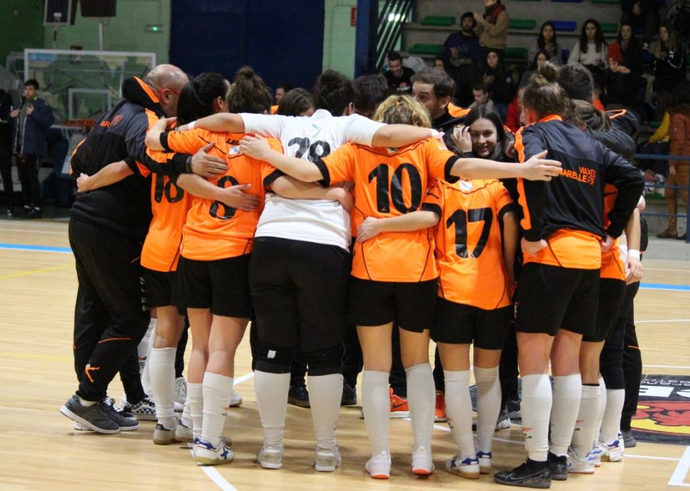 Viaxes Amarelle FSF Campeón de Liga del Grupo 1º de 2º División de Fútbol Sala Femenino