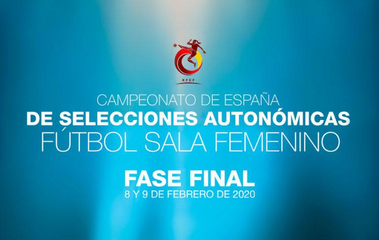 Horarios de la Fase Final de Selecciones Autonómicas de Fútbol Sala Femenino