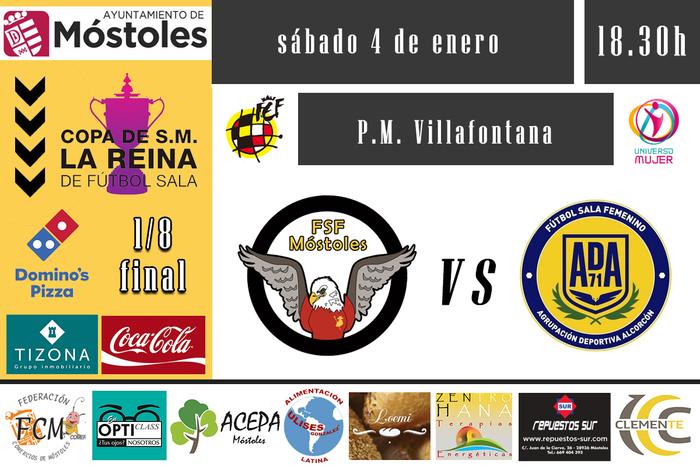 Previa Octavos de la Copa de la Reina de Fútbol Sala Femenino: FSF Móstoles - AD Alcorcón FSF
