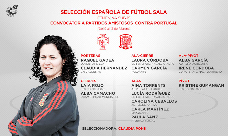 La Selección Sub 19 de Fútbol Sala Femenino comienza su concentración para preparar los dos amistosos frente a Portugal