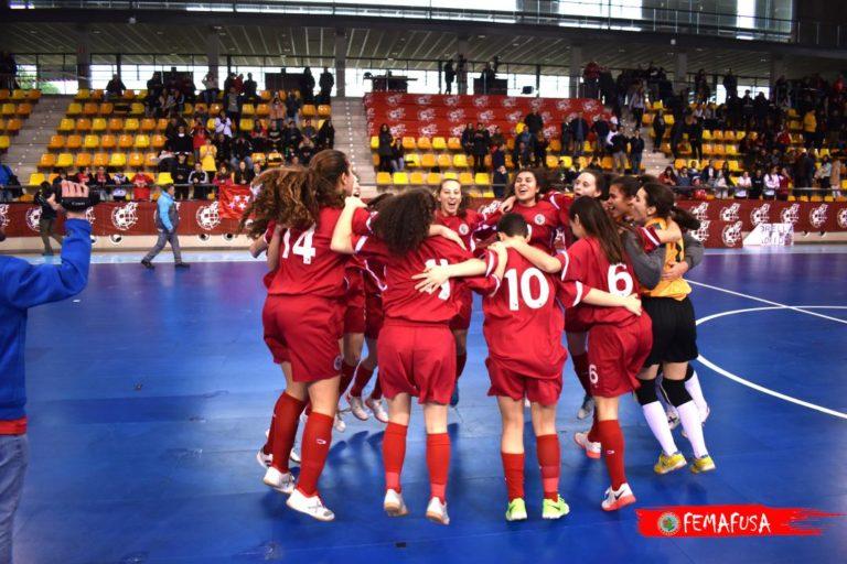 Madrid en Sub 19 y Cataluña en Sub 16, Selecciones campeona del Campeonato de España de Selecciones autonómicas de Fútbol Sala Femenino