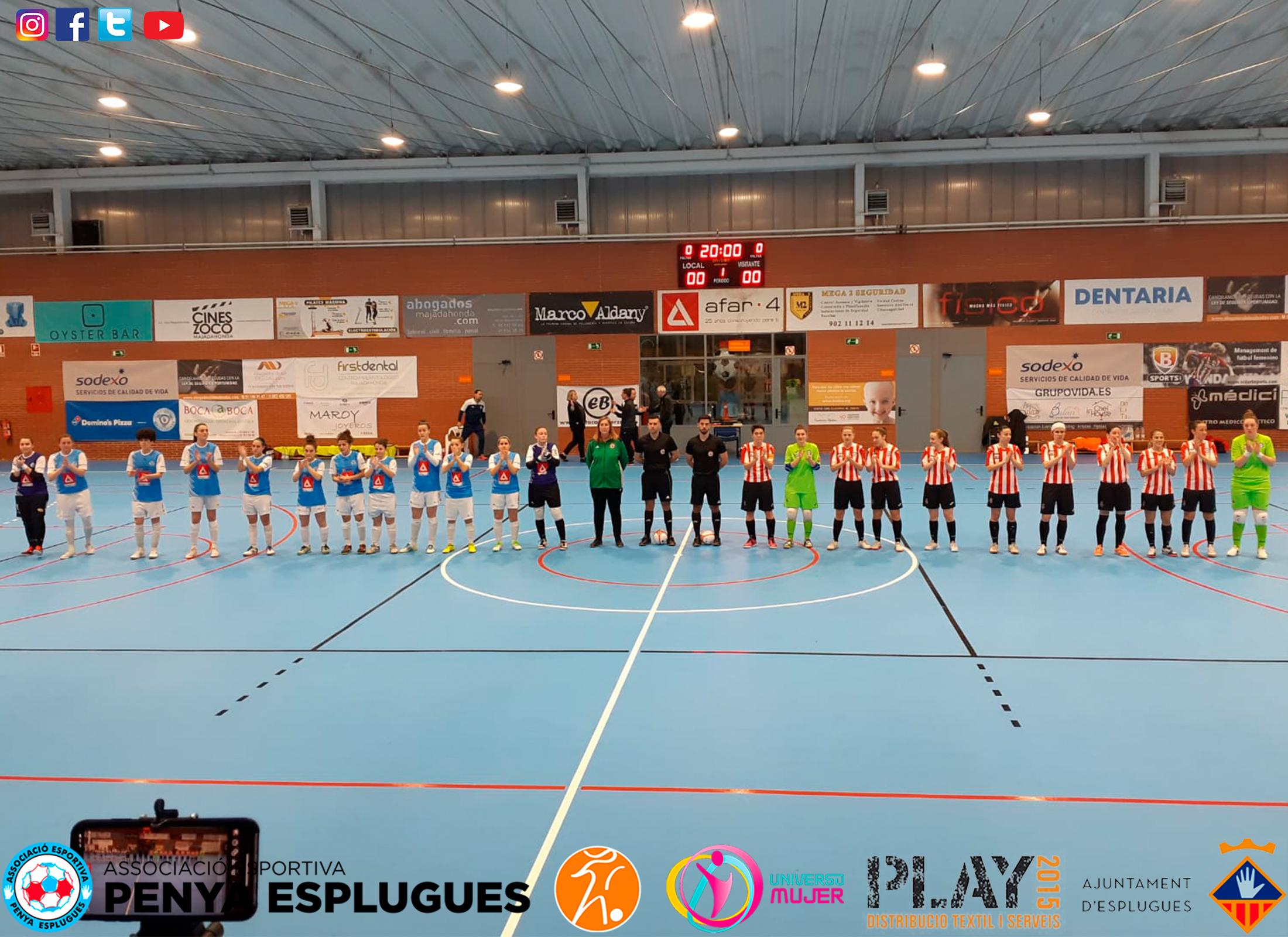 Crónica: FS Majadahonda - AE Penya Esplugues. Jornada 20ª. 1ª División de Fútbol Sala Femenino