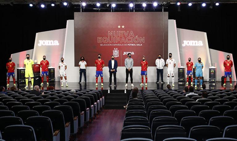 La Selección española de fútbol sala presenta sus nuevas equipaciones de la mano de Joma