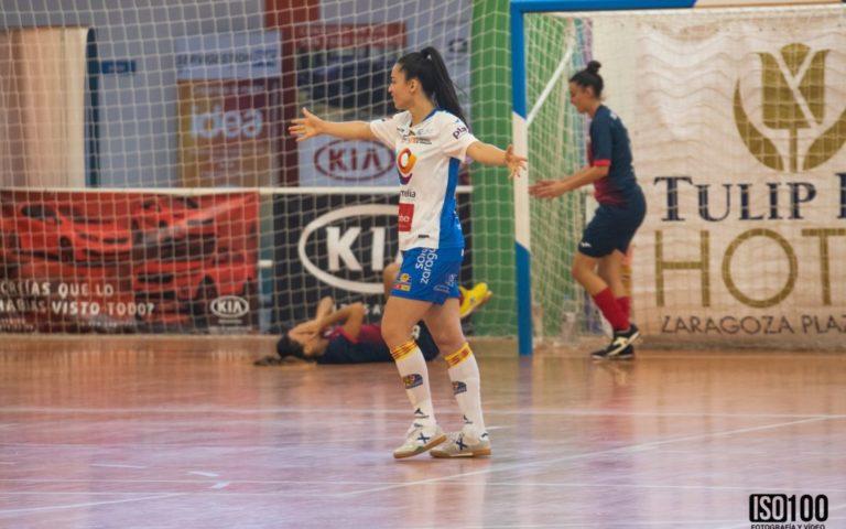 """Rafinha (Jugadora de Sala Zaragoza): """"Tenemos muchas ganas de que comience la liga"""""""