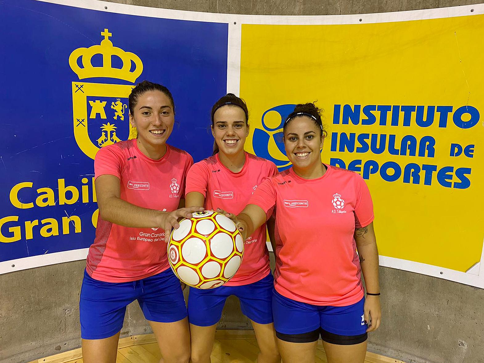 Gema, Andrea y Raquel, capitanas del Teldeportivo de Segunda División