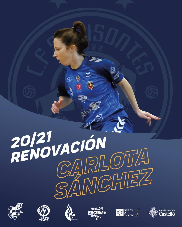 Carlota Sánchez renueva con Bisontes Castellón FSF