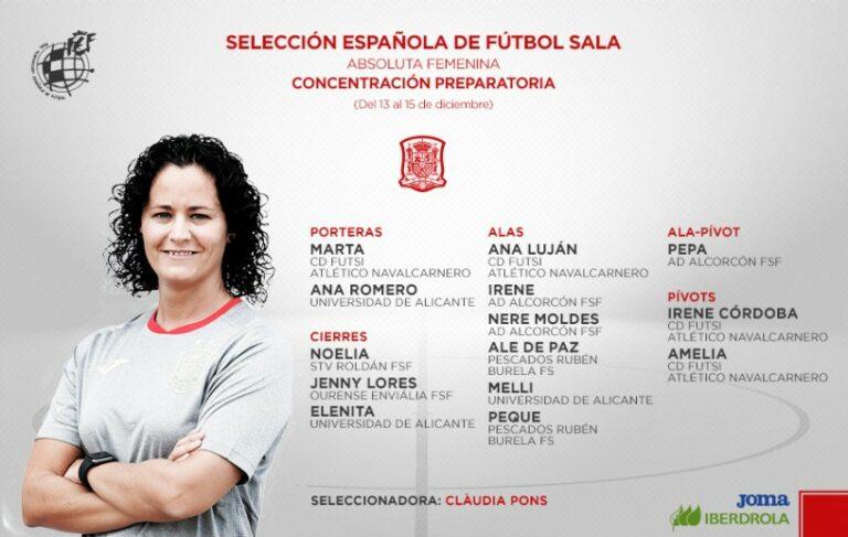 Ya se conocen las convocatorias de la Selección Absoluta y Sub-21 Femenina para los entrenamientos de Diciembre