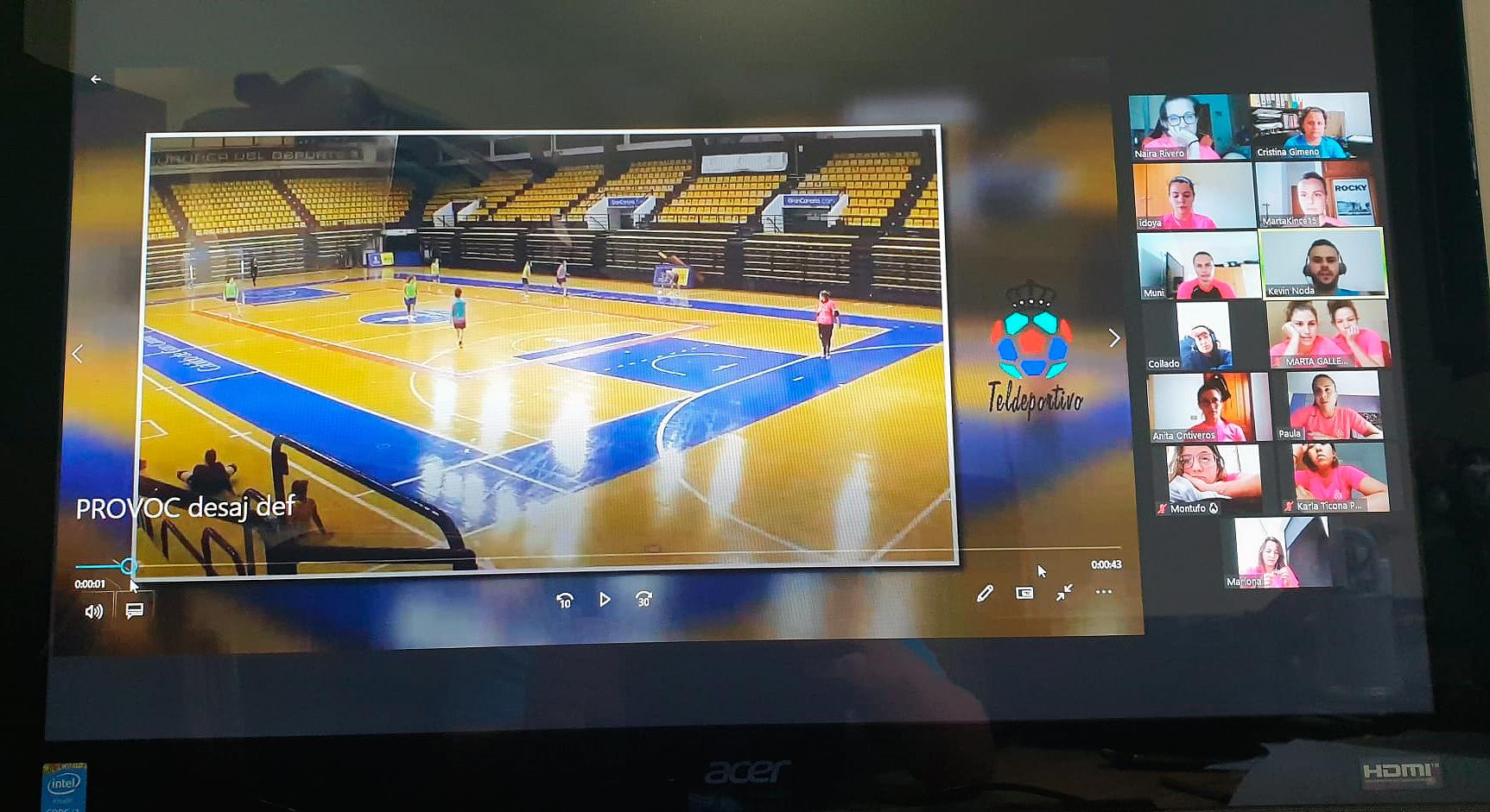 Sesiones virtuales de entrenamiento para el Gran Canaria Teldeportivo