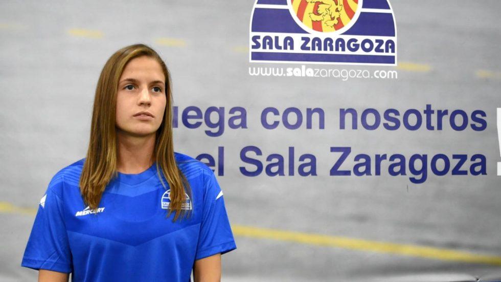 Laura Boix (Capitana de Sala Zaragoza): «Hemos venido con muchas ganas e ilusión por hacer una buena temporada»