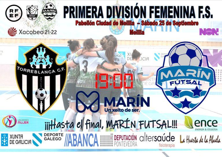 Previa del Partido de Liga: MSC Torreblanca Melilla - Ence Marín Futsal. Jornada 2ª