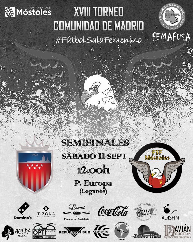 Previa del Partido de Semifinales del Torneo Comunidad de Madrid: FSF Móstoles - Futsi Atco. Navalcarnero