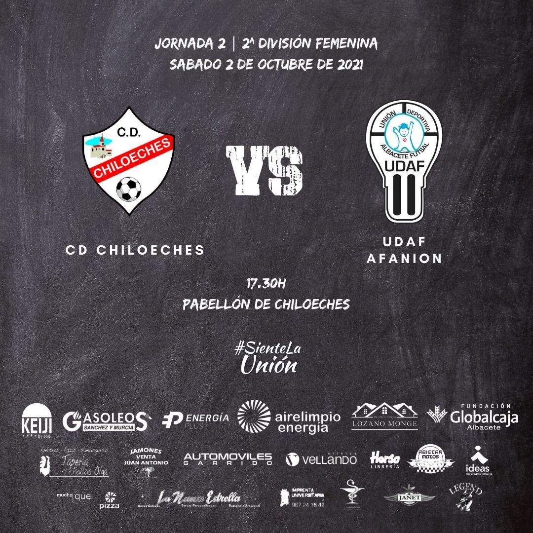 Previa del Partido de Liga de 2ª División: CD Chiloeches - UDAF AFANION. Jornada 2ª. Grupo 4º