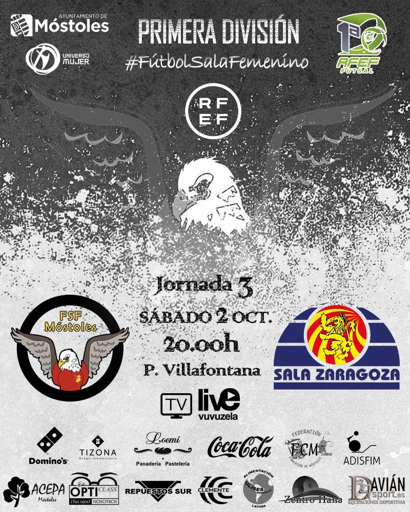 Previa del Partido de Liga: FSF Mótoles - Sala Zaragoza. Jornada 3ª